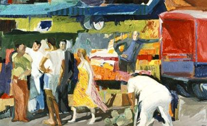 Παναγιώτης Τέτσης: Η Λαϊκή Αγορά